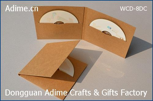 Kraft Double CD DVD Sleeves
