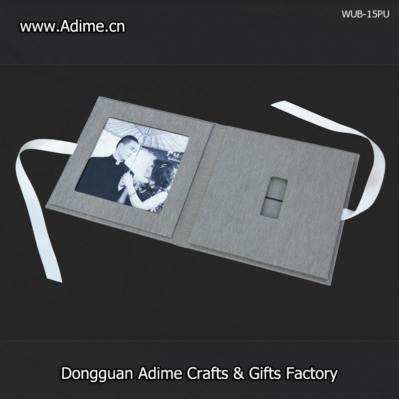 Linen USB Photo Folio Box