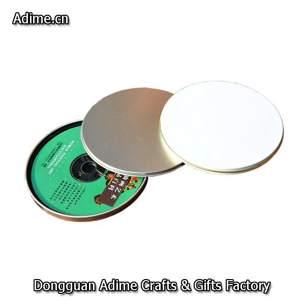Round Metal CD Tin