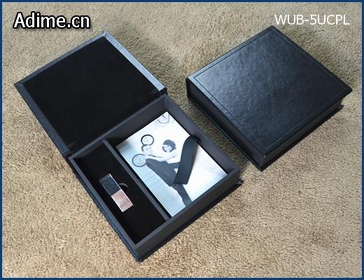 Leather Prints Box with USB