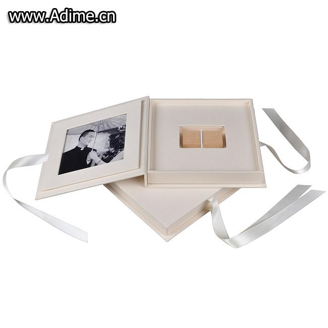 Linen Photo USB Gift Box
