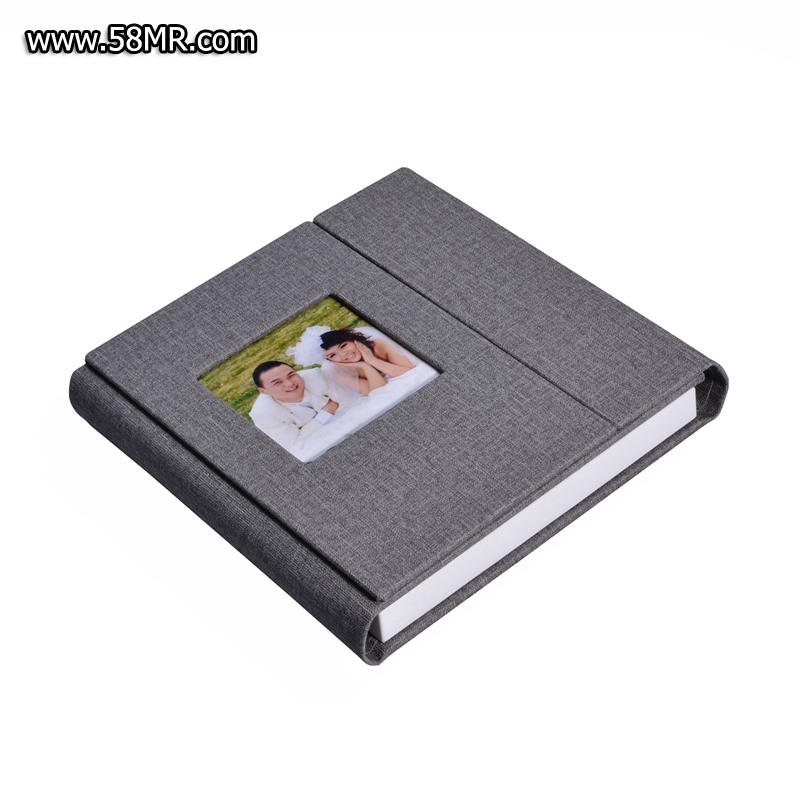 Leather CD USB Photo Box