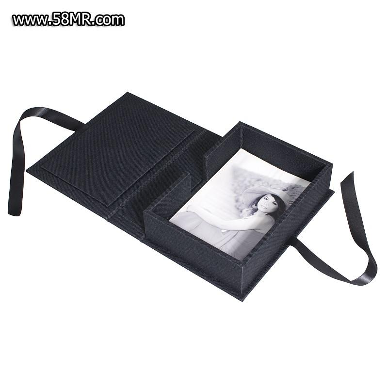 Ribbon Linen Photo Box